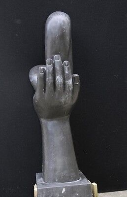 Italian Marble Modernist Art Sculpture Hand Figurine Statue Abstract 7
