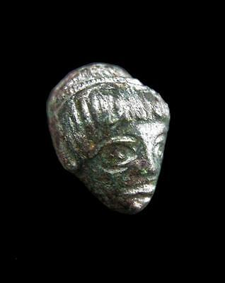 Ancient Roman Bronze Female Head 1st Millennium B.C. Lot 2 2