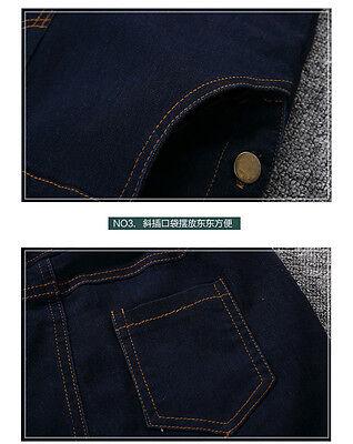 kid Denim overalls 2PC Long sleeve Plain Shirt+Overalls Jeans Girls Size 3-16YRS 7