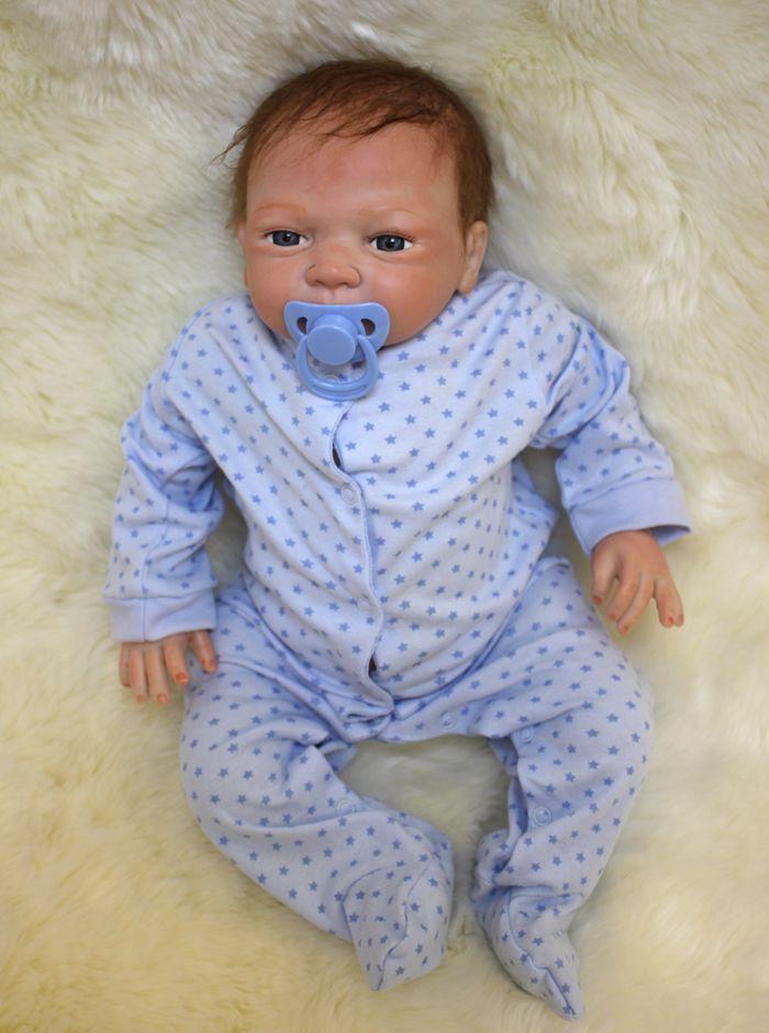 """20"""" Full Body Realistic Reborn Dolls Lifelike Baby Boy Newborn Doll Gifts 4"""