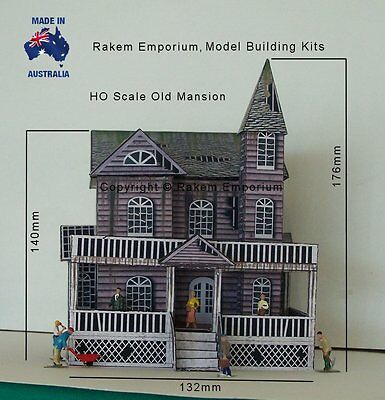 HO Scale Mansion House Old Creepy Model Railway Building Kit - REOM1 4