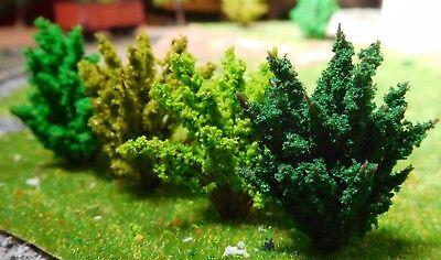 50 Büsche, 40 mm hoch, hellgrün, mittelgrün, dunkelgrün, dunkelgelbgrün 4
