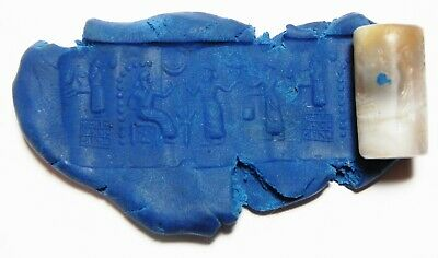 ZURQIEH -as11103- ANCIENT HOLY LAND. STUNNING AGATE CYLINDER SEAL. 1ST MILL. B.C 3