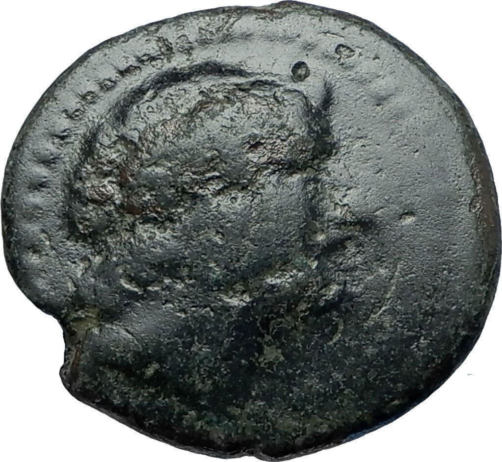ANTIOCHOS III Megas Authentic Ancient 222BC Seleukid RARE R2 Greek Coin i68045 2