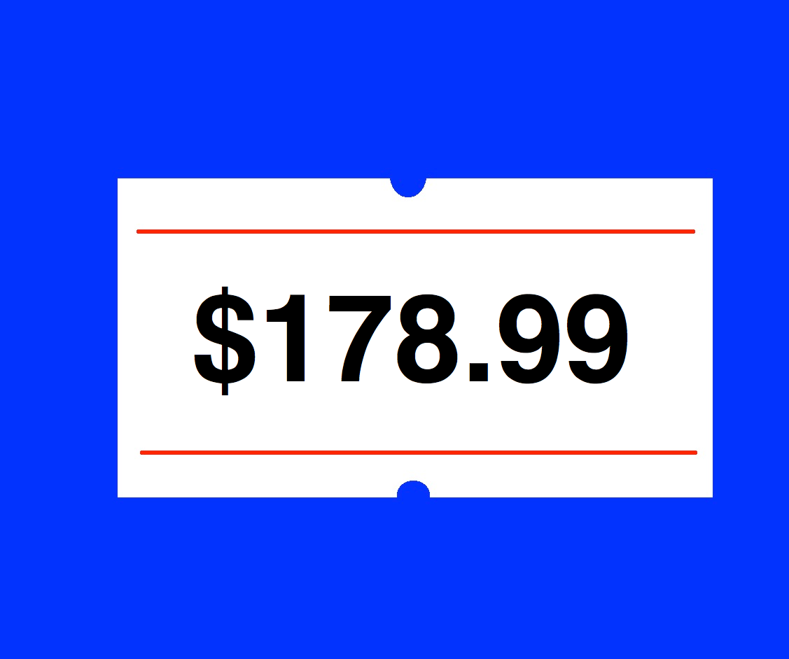 Price Pricing Gun Labeller + Rolls Labels + 3 Inks 2