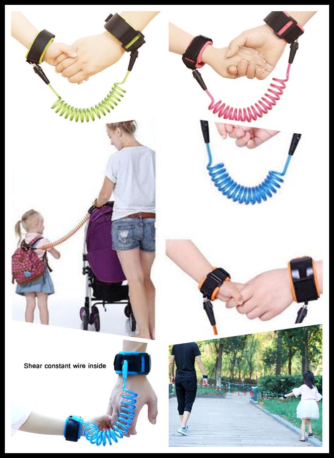 Sicherheitsgurt Baby Kinder Leine Anti-Verloren Wristband Strap Handgelenk Bügel