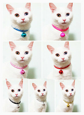 Soft Leather Collar Bell Pet Dog Puppy Cat Kitten Cute Loud Bell Free delivery 2