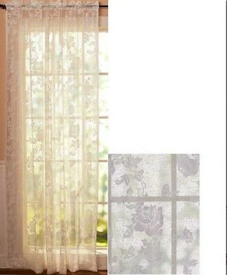 Vintage Lace Curtains Abbey Rose Swags or Panels Country Lace Window Treatments 2