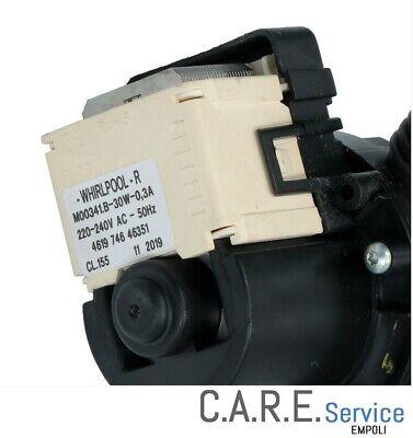 Pompa Scarico Lavatrice 480111100786 461974644711 481010584942 Whirlpool 5