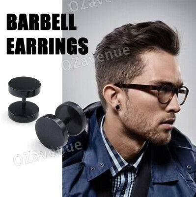No Piercing Flat Round Black Magnetic Ear Stud Earrings Mens Womens Jewellery 2