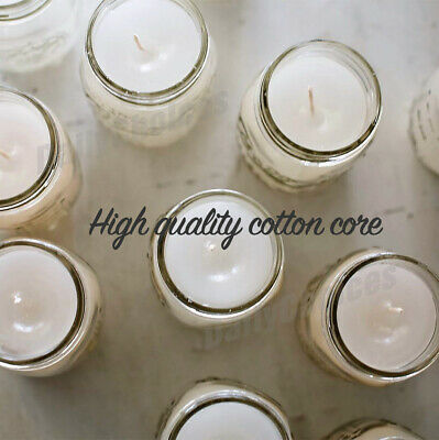 100pcs Candle Wicks Low Smoke Pre Waxed Wick with Tabs Sustainers Cotton Core AU 3