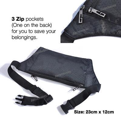 Running Hiking Sport Bum Bag Travel Money Phone Fanny Pack Waist Belt Zip Pouch 3
