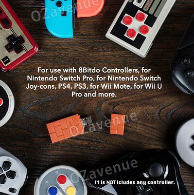 8Bitdo Wireless Bluetooth Receiver USB Converter For Nintendo Switch Adapter AU 3
