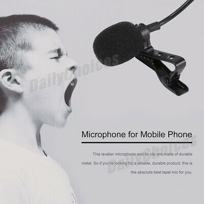Lavalier Microphone 3.5mm Lapel Clip-on Mic for iPhone & Android Smartphones 3
