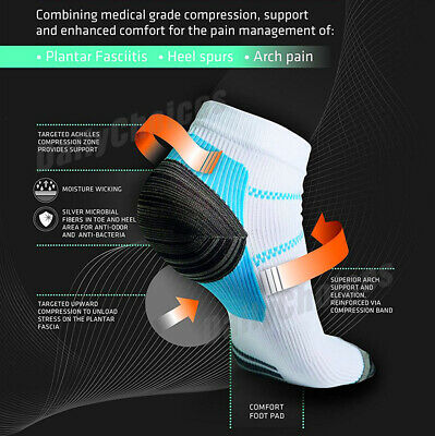 Plantar Fasciitis Foot Pain Relief Sleeves Heel Ankle Sox Compression Socks 3