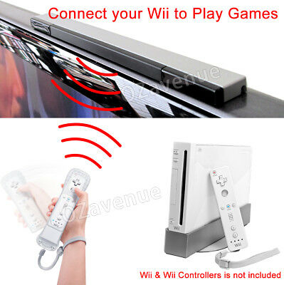 Infrared Ray Wireless Sensor Bar for Nintendo Wii / Wii U / Wii Mini Console AU 3