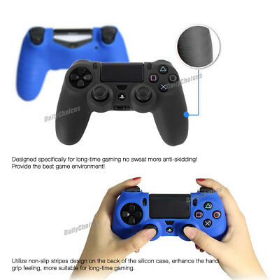 Soft Silicone Cover Skin Rubber Grip Case for Sony Playstation 4 PS4 Controller 3