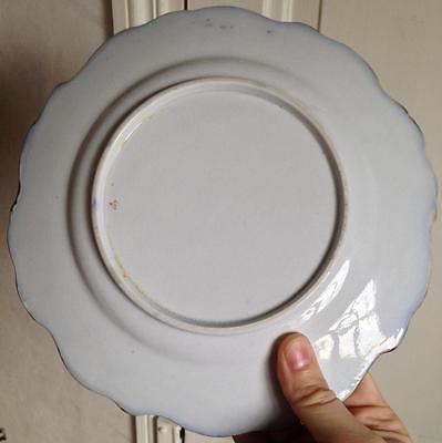 Paire Assiettes porcelaine XIXéme Bayeux ? à identifier 3