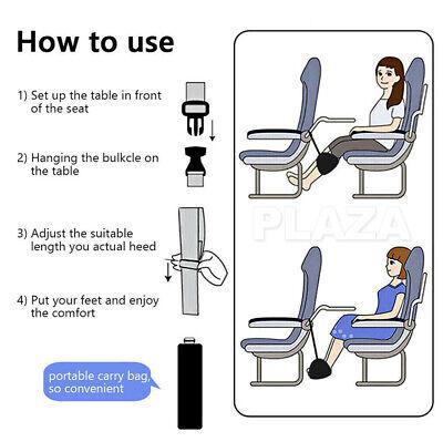 Travel Foot Rest Footrest Leg Pillow Flight Memory Foam Cushion Hammock 10