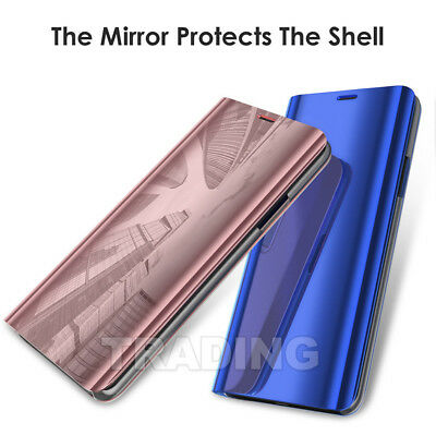 Slim Cover Luxury Mirror Flip Case for Samsung Galaxy S10 S9 Plus S8 S8+ Note 8 4