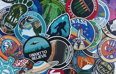 Mountain Made Embroidered Iron-On / Sew-On Patch Vacation Souvenir Explore More 3