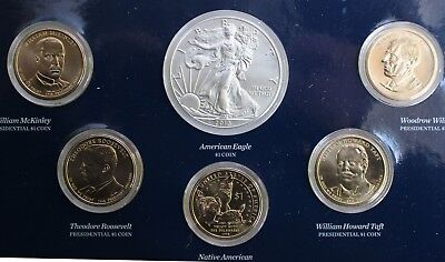 2013 US Mint Annual Uncirculated Dollar 6 Coin Set ASE Presidents Sacagawea $1 2