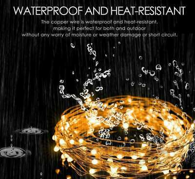 10M 20M Long LED Solar String Lights Waterproof Copper Wire Fairy Outdoor Garden 2