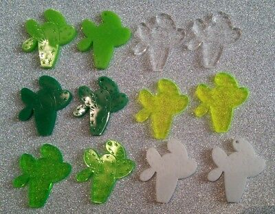 Jewellery Making Cabochons 3x Cactus