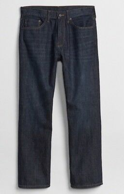NWT Gap Jeans in Relaxed Fit, Dark Resin, 34x30 6