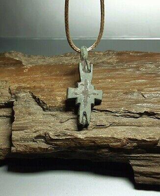 Bezantine Pendant Reliquary Cross ENKOLPION Kievan Rus.Viking 9-13 cen.AD#2527 3