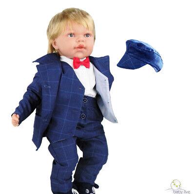 Taufanzug Festanzug Hochzeit Anzug Smoking 5 Tlg Set Gr 62 68 74 80