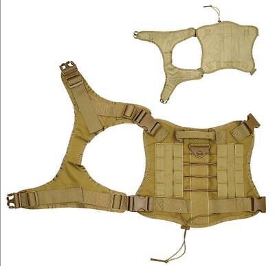 US Police K9 Tactical Training Dog Harness Military Adjustable Molle Nylon Vest 11
