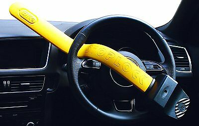 Stoplock Pro Elite Yellow Anti Theft Security Steering Wheel Lock to fit Audi A6 7