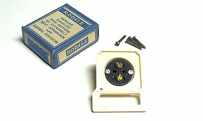 NIB RODALE Vintage Bakelite Push Button Door Bell w/Name Plate Cat# 302 . VM-36A 3