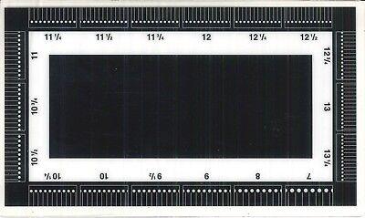 ODONTOMETRO PROFESSIONALE  (misuratore di dentellature  da 7 a 16 1/2) 3