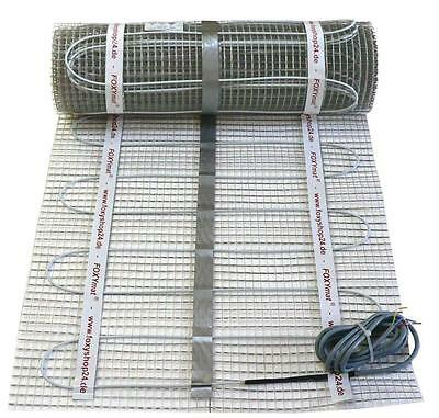 elektrische Fußbodenheizung 90/160/200 W/m² mit Regler auswählbar / 1 bis 20 m²