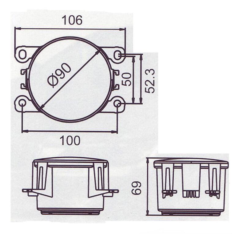 LED Tagfahrlichter Set Zusatzscheinwerfer Tagfahrleuchten Tagfahrlicht TFL DRL
