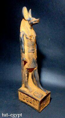Rare ANCIENT EGYPTIAN ANTIQUES ANUBIS God Mummy Deity Dog  STATUE STONE 3150 BC 3