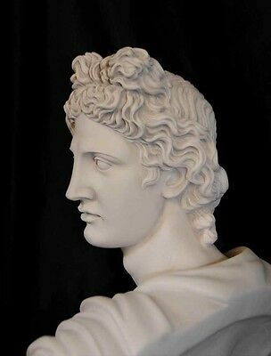 Italian Carved Bust Apollo Faux Marble Interiors 5