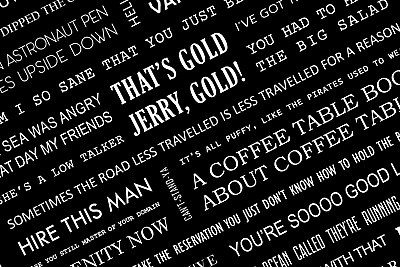Seinfeld Quotes Poster A4 7