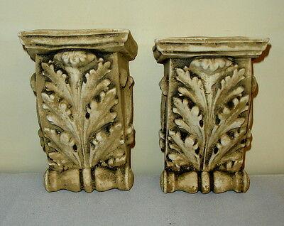 """Antique Finish Shelf Acanthus leaf plaster Wall Corbel Sconce Bracket 5.5"""" 4 • CAD $62.99"""