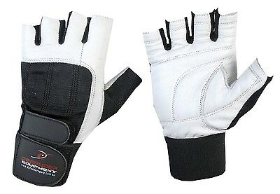 Gym Gloves Bodybuilding Weight Lifting Strength Training Fitness Wrist Leather 8