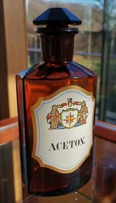 Apotheker - Altes, wunderschönes Apothekerglas - ACETON - Unikat 7