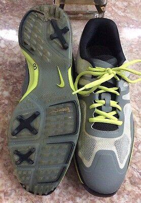wholesale dealer e80ad 60a53 ... Nike Lunar Ascend II Men s Grey Black Venom Green Golf Shoes Size 10