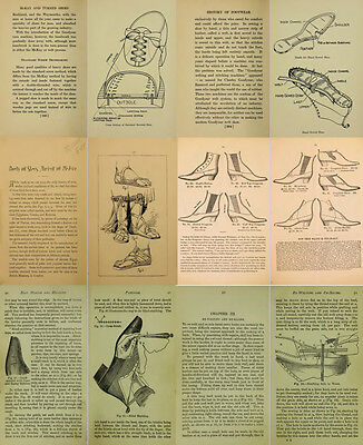 Shoemaking Craft Shoemakers 32 Vintage Boot /& Shoe Making Books on a Data Disc