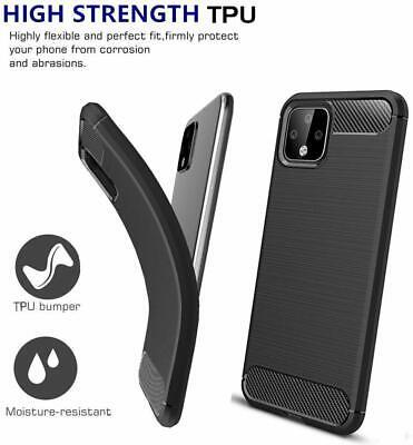 For Google Pixel 4 / XL Cover Carbon Fibre Armour Shockproof TPU Slim Soft Case 3