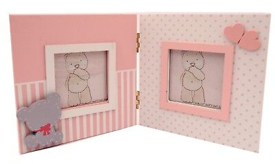 Baby Girl Double  Photo Picture Frame Newborn Baby shower Girl Gift