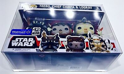 1 Box Protector For FUNKO POP! Smaller 3 packs.  Ewoks, Snap, Rush Etc.  READ!!! 6