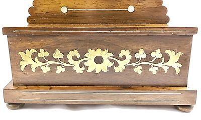 Antique Inlaid Brevete Rosewood Mantel Bracket Clock 8