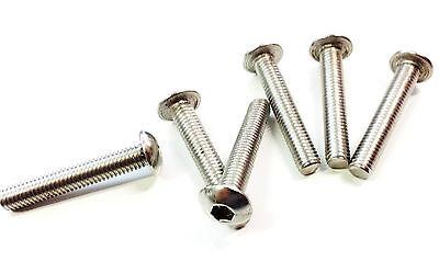 10 Stück Zaunbauschrauben M8x45 A2 Zaunschrauben Innensechskant 5.5 Edelstahl